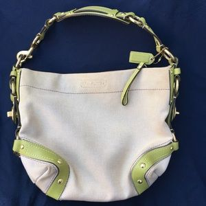 Coach Canvas/Leather Shoulder Bag, M